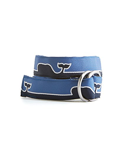 Boys Vineyard Vines Whale Line D Ring Belt (Vineyard Vines Canvas)