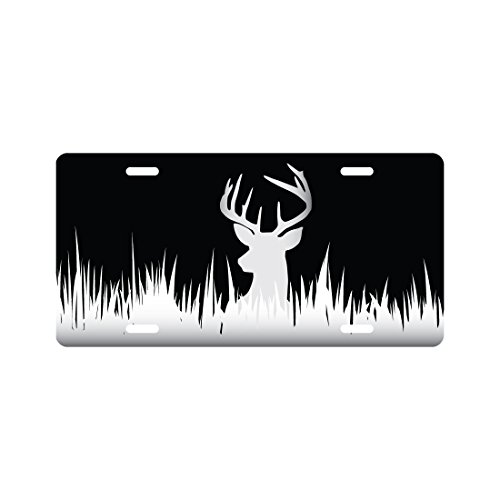 Deer Silhouette Hunting License Plate Funny Novelty Tag