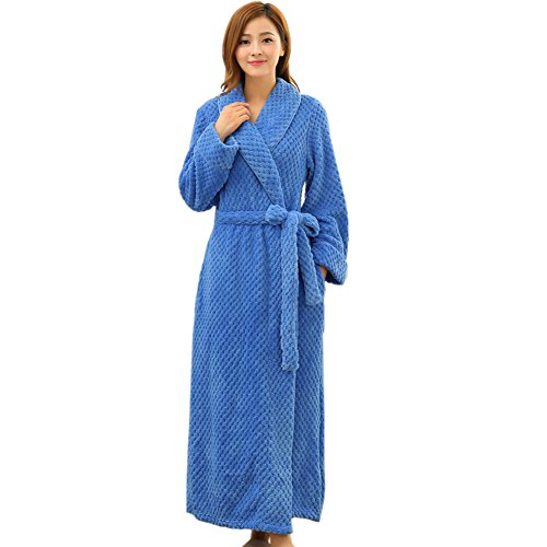 Women's Shawl Collar Plush Microfiber Fleece Bathrobe