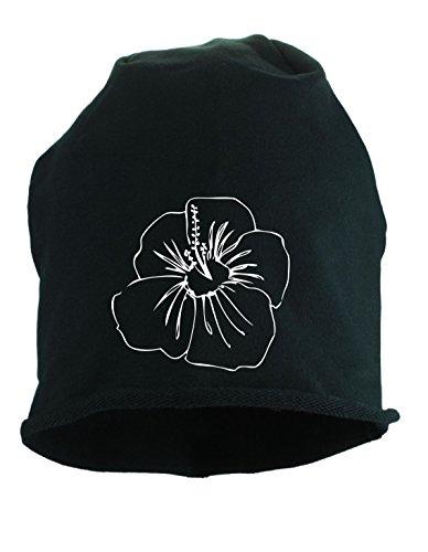 Verano Primavera Y Hombre Heather Mujer Bonnet Jersey Negro Hibiskusbluete 4qFgnfIxt