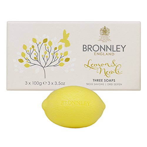 Soap Bronnley Lemon - Bronnley England Lemon & Neroli Soaps for Women, 3.5 Ounce