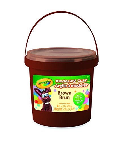 Crayola 14.8 oz Bucket Brown Modeling Clay