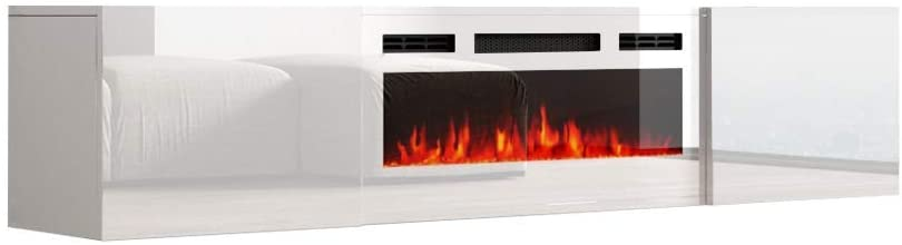 Meble Furniture Cali WH-EF Wall Mounted Electric Fireplace Modern 72