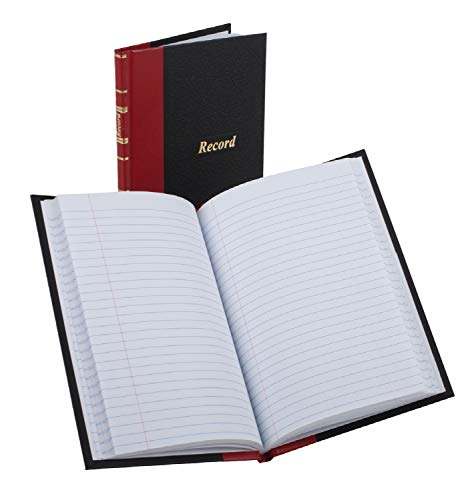 (Boorum & Pease 96304 Record/Account Book, Black/Red Cover, 144 Pages, 5 1/4 x 7 7/8)