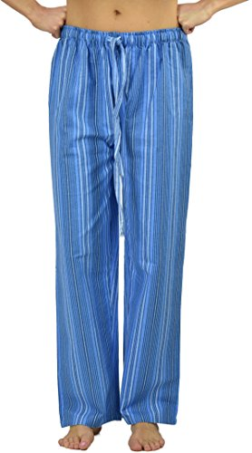 Flannel Lounge Pants Printed (Flannel Lounge Pants, Clearance Price, Style#Fpj-M, Medium Size (Aqua))