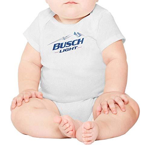 jdadaw Busch-Light-Beer-Logo- Newborn Boys Girls 100% Cotton Short Sleeve Baby Onesie Toddler Clothes
