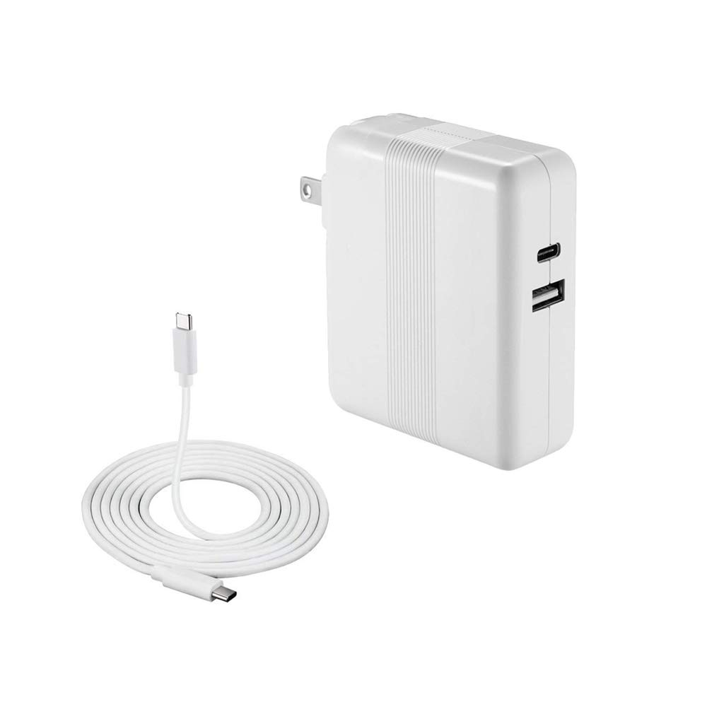 61W USB C Power Adapter for Apple MacBook 13-inch Laptop Charger, Replacement Power Adapter Charger with 6.0Ft USB-C to USB-C Charge Cable