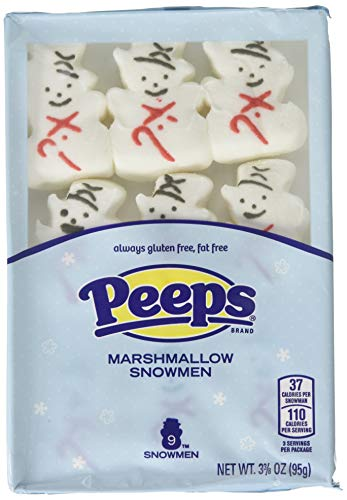 Peeps Marshmallow Snowmen Christmas Candy, 9 Count, Pack of 3 -
