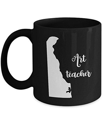 Delaware Art Teacher Home State Back To School Teacher Day Coffee Mug Gift 11oz Black - Costume History Lesson Plans
