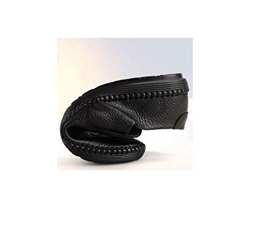 Traspiranti da Rete Morbido Uomo Scarpe Scarpe Fondo Bean Business Oxford Black da Pigro Punta Casual Scarpe A Tonda Ezq8a