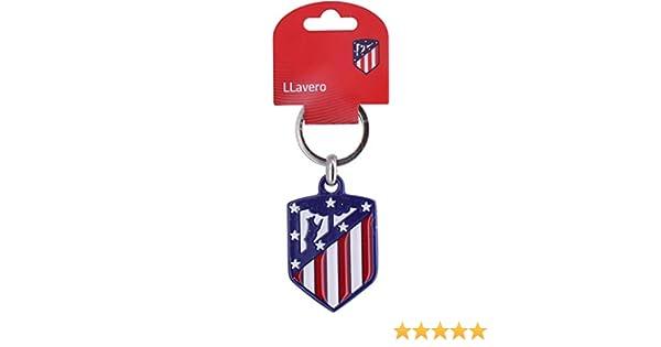 Atletico Madrid Official Established 1903 Crest Keyring