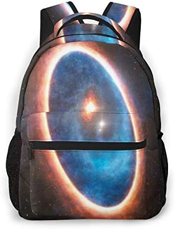 神秘的なカラフルな夜空の惑星ミステリー バックパック リュック メンズ レディース 学生 男女兼用 防水 アウトドア カジュアル デイパック 多機能 収納 通勤 通学
