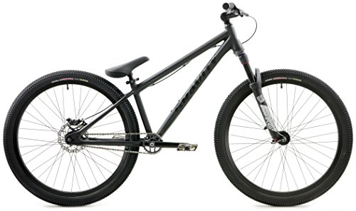 Gravity CoJones Pro Dirt Jump Bike 26 Inch Wheel Rock Shox Pike DJ Suspension Fork Disc Brake (Matt Black)