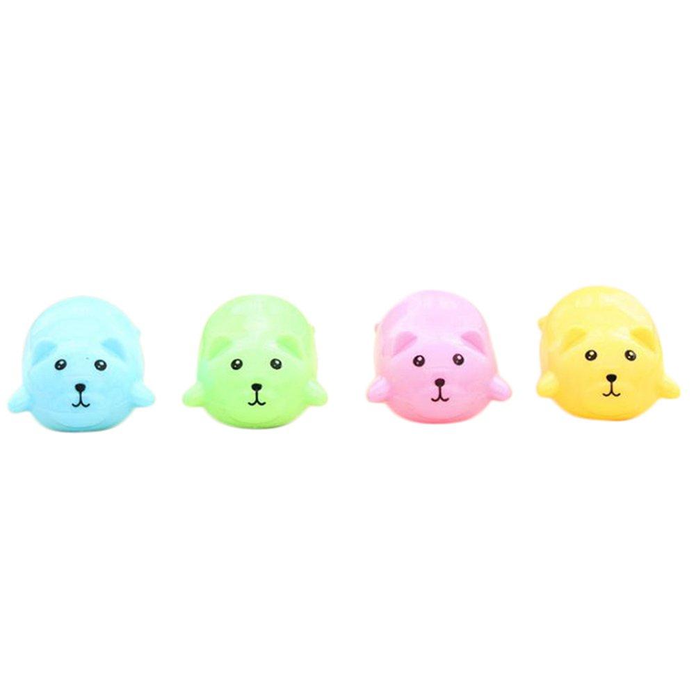 oyfel Spitzer Katze kawaii Mignon Rosa Kunststoff für Kinder Jungen Mädchen Schule 4PCS zufällige Farbe