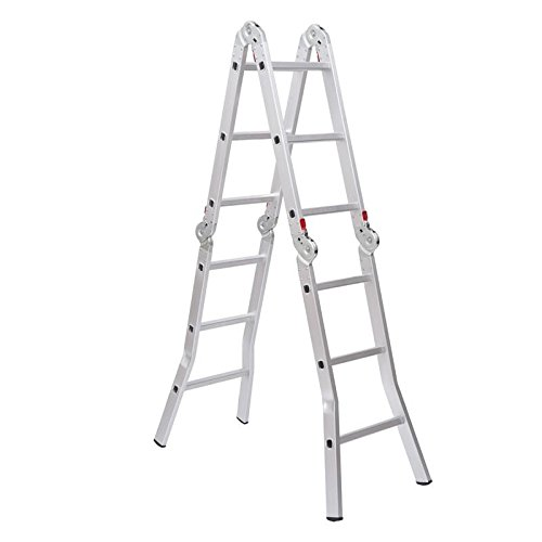 Price comparison product image Aluminum Folding Ladder Adjust Multiple Different Heights Extension/Step Ladder With Ebook