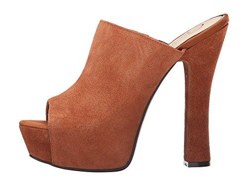 Platforms Simpson Open Jessica Toe (Jessica Simpson Women's Shoes Finnie Platform Open Toe Mule Luggage Suede (9.0))