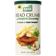 Badia Bread Crumbs with Complete Seasoning, 15 Ounce (Pack of 12) by Badia