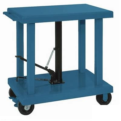 Wesco-Industrial-Products-260066-Steel-Heavy-Duty-Lift-Table-4000-Pound-Capacity-36-Length-x-24-Width-Tabletop-59-Height