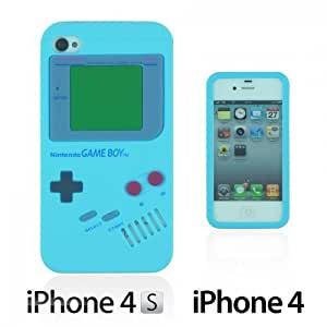 OnlineBestDigital - Gameboy Style Silicone Case for Apple iPhone 4S / Apple iPhone 4 - Light Blue with 3 Screen Protectors and Stylus