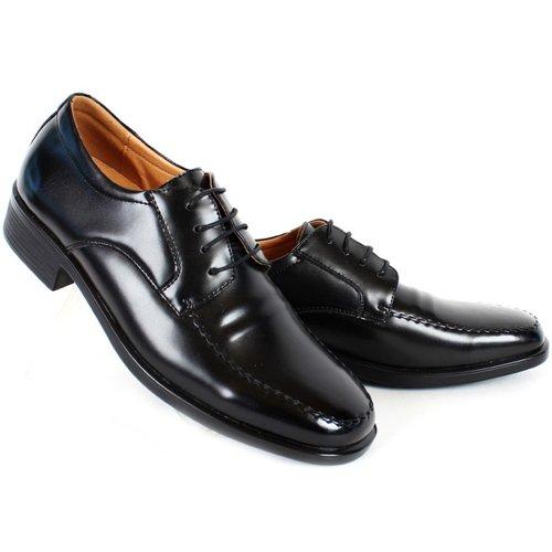 Ny Mooda Premium Mens Läderklänningen Formella Snörning Skor Svarta