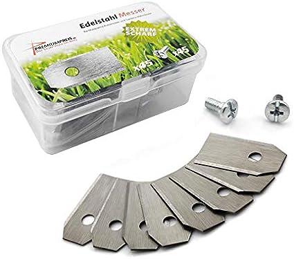 Cuchilla de repuesto Cuchillas para Husqvarna Automower/Gardena mähro botor (0,45mm) Incluye Tornillos–PREMIUM Precio