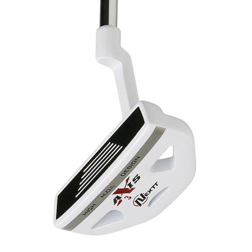 Nextt Golf Men's Axis HMD Nano White Putter 3 Half Mallet with Head Cover (Right Hand)