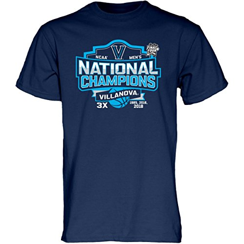 (Blue 84 Villanova Wildcats 3-Time NCAA Men's Basketball National Champions T-Shirt (L))