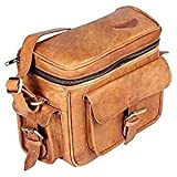 TUZECH Real Leather Vintage Plus Modern Leather Bag Camera DSLR And Regular Use Bag- Fits 13 Inches