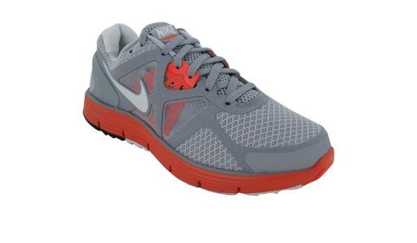 promo code 92d79 f49ea Amazon.com   Nike Lunarglide+ 3 Womens Running Shoes Wolf Grey Max Orange  SZ 10   Running