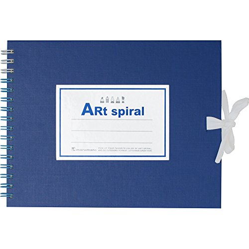 (Acid-free paper) 156.5G / square meter Blue S310-02 F0 24 sheets of drawing paper Heavyweight Maruman sketchbook art spiral series (japan import) by B. Toys
