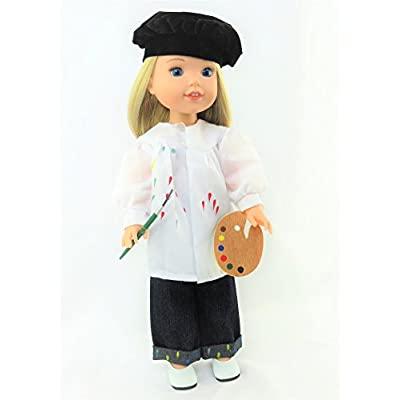 American Fashion World Little Artist Outfit Fits 14 Inch Dolls: Toys & Games