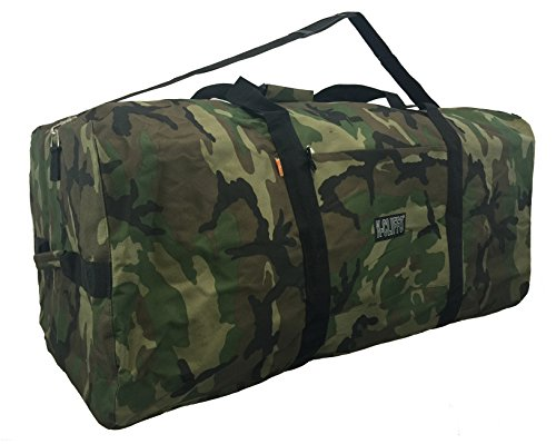 Price comparison product image Heavy Duty Duffel Gear Bag Equipment Sport Travel Roofbag Rooftop Rack Bags Camo