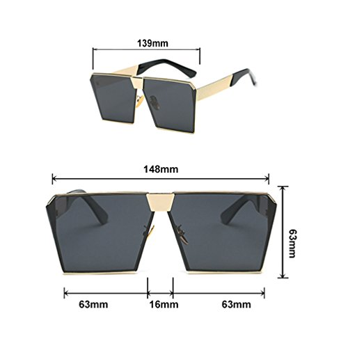 Sunglasses de Sol Star Box Espejo Personality Gafas Fashion Men's Glasses Big Red Ladies Same with ZQ Square solar The wCCqXS