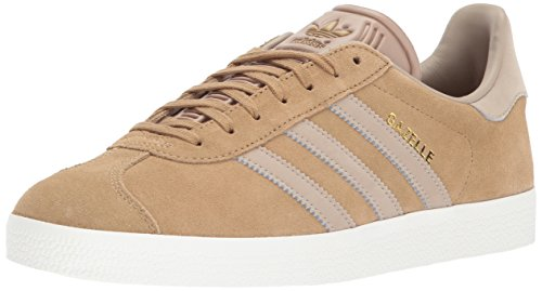 Khaki Mens Shoes - adidas Originals Gazelle Sneaker,Craft Canvas/Trace Khaki/White,8.5 Medium US