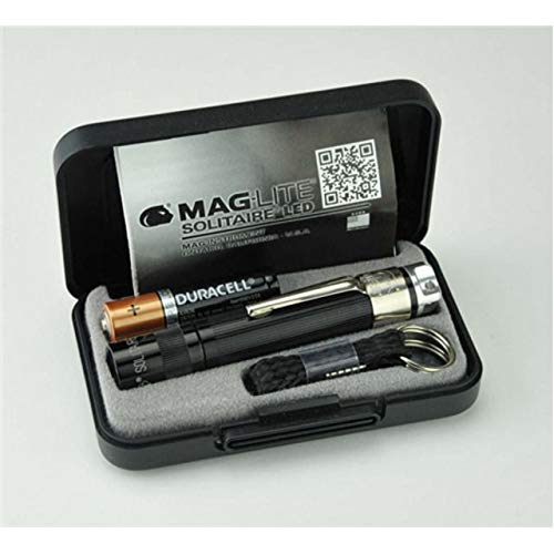 - Maglite, Solitaire Spectrum Series LED Flashlight, AAA, Black Body, White LED Light