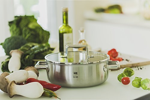 ELO Premium Stainless Steel Induction Pots Pans with Multilayer Easy-Pour Integrated Scale 8-Piece