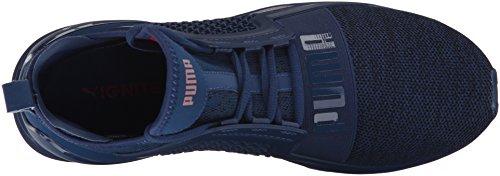 Puma Men's Ignite Limitless Knit Sneaker, Black, D(M) US Blue Depths/Toreador