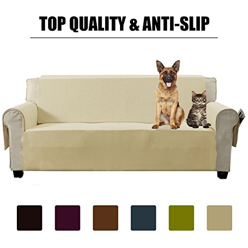 Aidear Anti Slip Sofa Slipcovers Jacquard Fabric Pet Dog