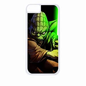 Yoda Drawing-Hard White Plastic Snap - On Case-Apple Iphone 5 - 5s - Great Quality!