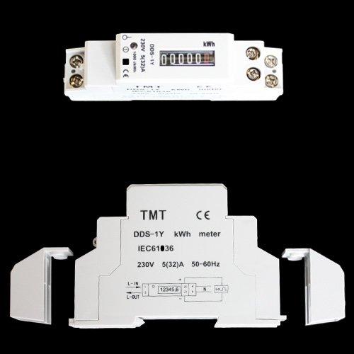 Wechselstromz/ähler Stromz/ähler Zwischenz/ähler 220//230 V Hutschine DIN DDS-1Y kwh Analoganzeige ZW1