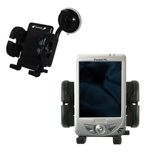Windshield Mount compatible with Medion MD95459 for the Car / Auto - Flexible Suction Cup Cradle Holder for the Vehicle