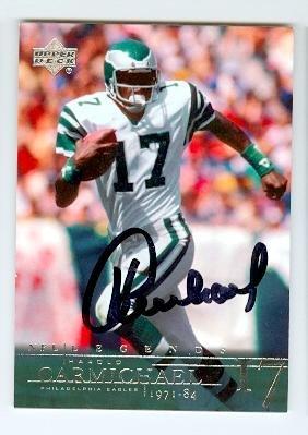 Autograph 211560 Philadelphia Eagles Sc 1995 Playoff No. 135 Harold Carmichael Autographed Football Card (Sc Sports Eagles)