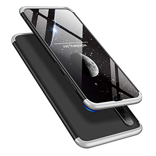 Designed For Samsung Galaxy A50 Case Ultra Thin Matte Hard PC 3 in 1 Anti-Scratch Back Protection Cover (Silver&Black) ()