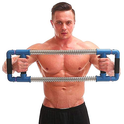 GOFITNESS Push Down Bar Machine – Chest Expander at Home Workout Equipment, Arm Exerciser Portable Spring Resistance…