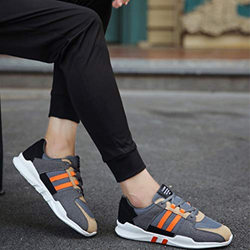 Color scarpe Size uomo da Gray estate Color Gray scarpe orange uomo WangKuanHome Orange scarpe traspirante 40 da uomo color tendenza Scarpe tela selvaggia di casuale da CF8A4q