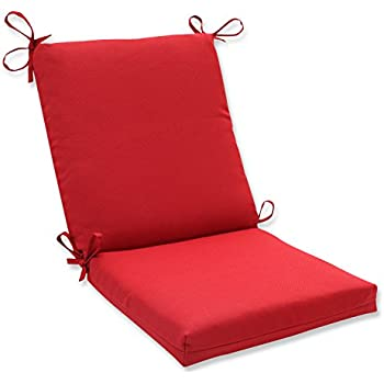 Pillow Perfect Indoor/Outdoor Red Solid Chair Cushion Squared  sc 1 st  Amazon.com & Amazon.com : Sunbrella Outdoor Cross Stitched Chair Cushion by ...