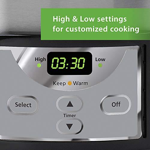 Crock-Pot 6-Quart Programmable Slow Cooker, Stainless Steel