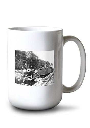 Lantern Press Petersburg, VA - Mortar Dictator on Railroad Civil War Photograph (15oz White Ceramic Mug)