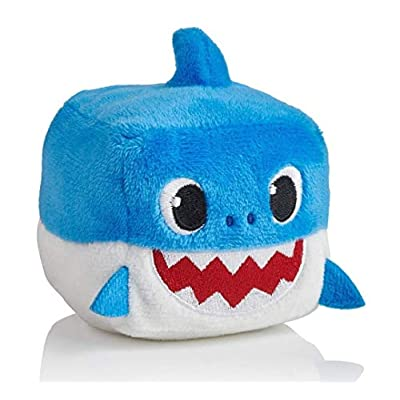 Baby Shark Song Light Up Plush Cube Pink Fong: Toys & Games