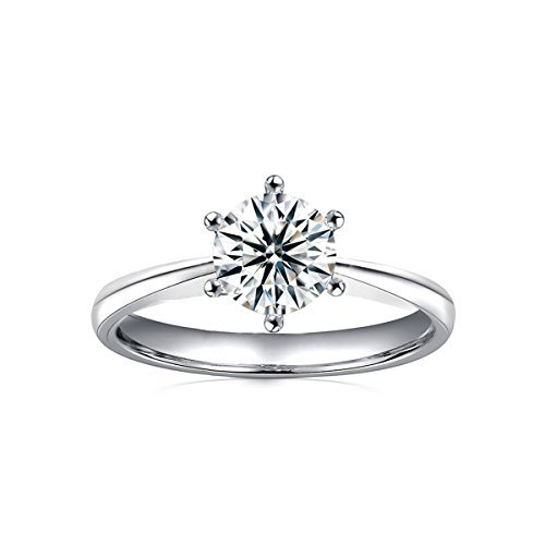 2.0 Ct Moissanite Ring Diameter 8.0mm H-I Colorless Sterling Silver Engagement Rings By Van Rorsi&Mo by Swhitee (Image #1)
